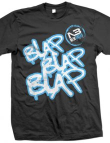 Blap Blap Blap T-Shirt In Black - Blue £12.99-0