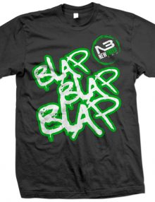 Blap Blap Blap T-Shirt In Black - Green £12.99-0