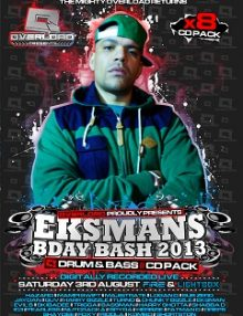 EKSMAN BIRTHDAY BASH 2013: 8 x Drum & Bass CD Pack £14.99-0