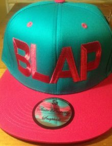 BLAP : Snap Back Hats (TURQUOISE: PINK)-0