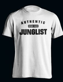 AUTHENTIC JUNGLIST T-Shirt WHITE- BLACK-0