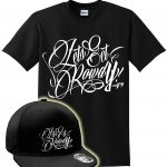 LETS GET ROWDY T SHIRT & SNAP BACK COMBO - BLACK & WHITE-0