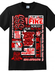 EKSMANS SLOGAN LIMITED EDITION T-Shirt BLACK- RED-0