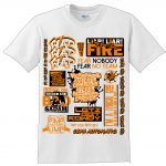 EKSMANS SLOGAN LIMITED EDITION T-Shirt WHITE- ORANGE-0