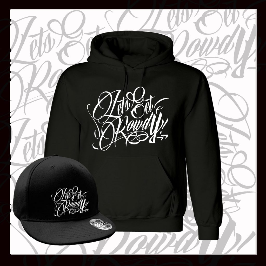LETS GET ROWDY HOODIE - BLACK & WHITE-490