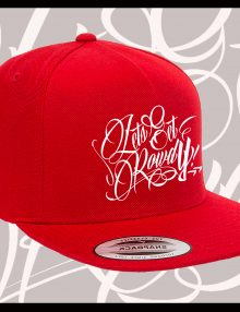 LETS GET ROWDY : RED Snap Back Hats -546